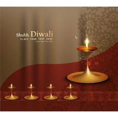 Vector Shubh Diwali Place for text Pattern curtain background poster design with glowing lamp greeting card, wallpaper and poster background...