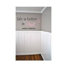 Amazon.com: Life is better in Pink 18x14 wall saying quote vinyl decal: Home & Kitchen
