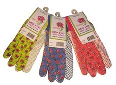 Visit The Home Depot to buy G & F Women Soft Jersey Garden Gloves, 3 Pairs Green/Red/Blue per Pack, Women's Medium