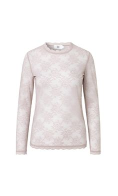 Lace top with long sleeves  - Dusty Pink