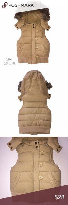 Baby Gap Brown Fur Vest Super Warm XS 4/5 Gently worn Baby Gap Brown Fur Vest Super Warm XS 4/5 GAP Jackets & Coats Vests
