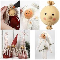 3er Set Engel - Puppenkopf mit aufgemaltem Gesicht von Die Geschenkidee auf DaWanda.com