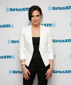 Lana Parrilla vists at SiriusXM Studios on February 2015 in New York City. Once Upon A Time, Anna Silk, Swan Queen, Celebrity Pictures, Pop Culture, Suit Jacket, Trousers, Actresses, Blazer