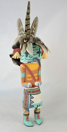 Roadrunner Kachina is carved in the traditional style by Hopi artist Kevin Chavarria of First Mesa.