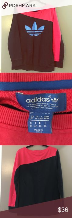 Retro-style Adidas sweater Retro sweater, great condition. Two hidden zipper side pockets on the front. Super stylish, great for lounging, working out, or going round town! adidas Sweaters Crew & Scoop Necks