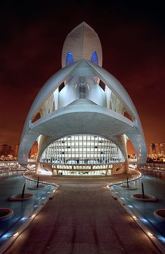 Arquitectura moderna - Ciutat de les Arts, Valencia, España
