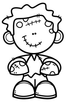 Coloring Pages For Kids, Coloring Books, Creative Clips, Frankenstein Craft, Easy Christmas Drawings, Halloween Coloring Sheets, Five Little Pumpkins, Halloween Activities, Hand Embroidery Patterns
