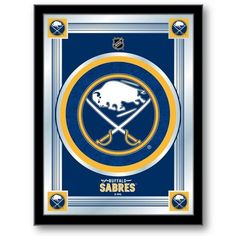 [[start tab]] Description The perfect way to show your Buffalo Sabres pride, this logo mirror displays the Sabres symbols with a style that fits any setting. With it's simple but elegant design, color