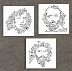 The Bee Gee's  Robin Barry and Maurice Gibb  set of by DrawInside