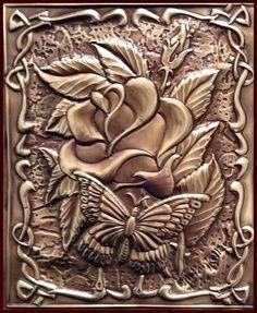 Rose & Butterfly - Metal Embossing