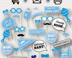 Printable Photo Booth Props de bebé ducha bebé por SurpriseINC