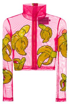 PINK BANANA CROP TURTLE NECK | @DiscountUniverse | VFILES