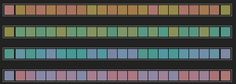hue test - drag and drop the colors in each row to arrange them by hue order    #hue #huetest #graphicdeign #graphicdesigngame #color #colortest #colorgame