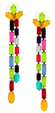 Tom Binns neon Swarovski Earrings