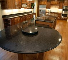 large granite island table - Google Search