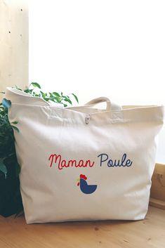 Cadeau maman original : optez pour le sac maman poule. Coton Biologique, Paper Shopping Bag, Mom Presents, Super Mom, Handkerchief Dress