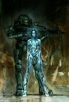 Isaac Hannaford : Halo Master Chief and Cortana Concept Art Master Chief And Cortana, Halo Master Chief, Video Game Art, Video Games, Cortana Halo, Odst Halo, Deco Gamer, Science Fiction, Halo Series