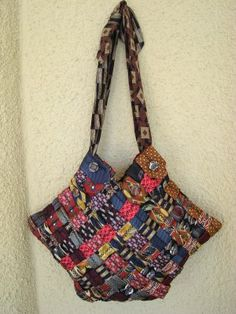 Rick Rack Ruby: Woven Necktie Bag (inspiration only - what a great creation from Laura Kluvo)