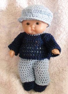 Crochet pattern for Berenguer 5 inch baby doll PDF por petitedolls