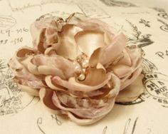 Pink Champagne Silk Flower by WynneMarieInk on Etsy, $12.99