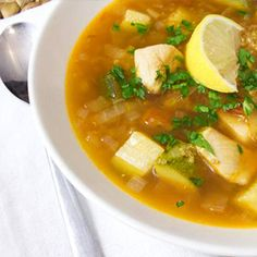 Lemony Chicken and Quinoa Soup: The classic cold buster gets a citrus-flavored twist in this chicken soup recipe from HelloFresh, which offers a dose of vitamins A and C for a satisfying dinner that packs an immunity-boosting punch. Use reduced-sodium vegetable stock, or make your own from scratch, to control the amount of salt and keep the recipe heart-healthy.