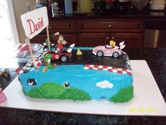 Side Two of Mario Cart cake