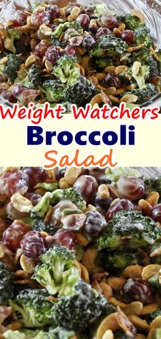 Broccoli Salad is a quick summer salad recipe that everyone always LOVES! Fresh and colorful broccoli, dried cranberries, sunflower seeds, and bacon bits are tossed in a creamy homemade dressing. Broccoli Salad is a quick summer salad recipe that e Diet Salad Recipes, Summer Salad Recipes, Ww Recipes, Skinny Recipes, Low Calorie Recipes, Summer Salads, Cooking Recipes, Recipies, Waffle Recipes