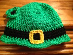 Crochet St Patricks Day inspired hat made by Dots of Love Creations - Dotsoflovecreations@gmail.com