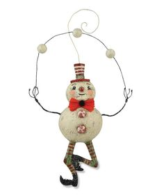 Juggling Snowman Ornament from The Holiday Barn