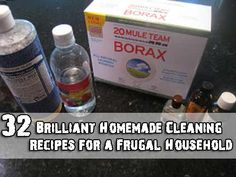 32 Brilliant Homemade Cleaning Recipes