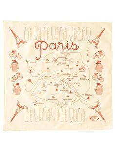 Paris Bandana - Natural    Bandana $12.00