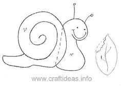 Free Felt Craft Patterns | Free Pattern for a Snail and a Leaf