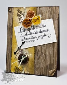 Stampin' From Home: Woody with a button!