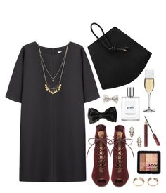"""""""Untitled #1720"""" by katerina-rampota ❤ liked on Polyvore featuring Non, Dartington Crystal, Gianvito Rossi, Charlotte Russe, philosophy, Kevyn Aucoin, Sparkling Sage, NYX, women's clothing and women's fashion"""