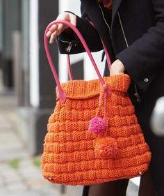 Tasche in orange, S8840 #MerinoExtrafine40