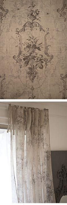 French Flora Drapery Panel - love this!