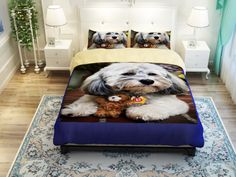 Love poodles - lovely bedding set ttp://www.lovingpets.com.au/products/3d-animals-huskiesbeaglesperky-pug-cute-dog-print-bedding-set-twin-queen-king-size-bed-sheet-duvet-cover-for-children-or-adult/