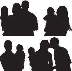 Vector Art : Family of three