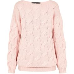 AV by ADRIANA VOLOSHCHUK Pink Merino Wool - Cashmere Oversized Jumper ($320) ❤ liked on Polyvore featuring tops, sweaters, merino sweater, pink jumper, jumper top, pink top and cashmere tops