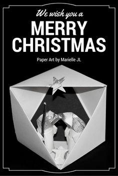 Paper nativity set by Marielle JL -