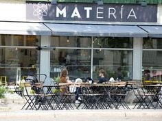 Great coffee, tasty breakfasts and more at the trendy café Matería. Gothenburg, Great Coffee, Bergen, Oslo, The Neighbourhood, Shops, Tasty, Restaurant, Outdoor Decor