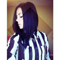 My hair. Dramatic A line.