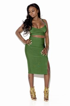 Check out our Bella V in green! Perfect for any night out. www.bit.ly/1rt5W6m