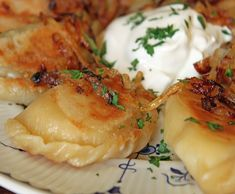 Pierogi is a traditional Polish dumpling dish. The dumplings can savory – stuffed with meat, or cheese and potato – or sweet.