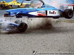 1998 Formula 1 Canadian Grand Prix - Jarno Trulli & Alexander Wurz.
