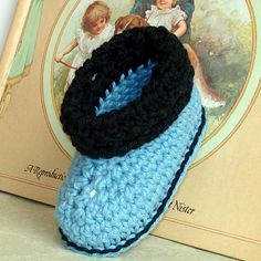 Free+Crochet+Baby+Shoes+Patterns | cuffed boots baby shoes crochet pattern easy crochet pattern for cute ...
