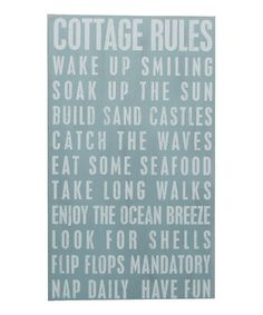 Beach Cottage Rules