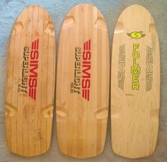 Some Vintage Sims boards Old School Skateboards, Vintage Skateboards, Cool Skateboards, Sims Snowboards, Long Skate, Skateboard Logo, Skate And Destroy, Rolling Thunder, Pure Fun