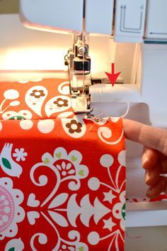How to make a lot of ribbon just by using your serger and scrap fabric!