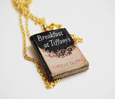 Breakfast at Tiffany's book necklace